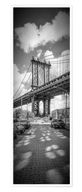 Premium poster NEW YORK CITY Manhattan Bridge Panorama