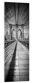 Acrylic print  NEW YORK CITY Brooklyn Bridge Panorama - Melanie Viola