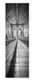 Premium poster  NEW YORK CITY Brooklyn Bridge Panorama - Melanie Viola