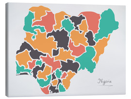Canvas print  Nigeria map modern abstract with round shapes - Ingo Menhard