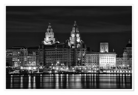 Premium poster Liverpool Water Front
