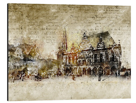 Aluminium print  Bremen market marketplace modern and abstract - Michael artefacti