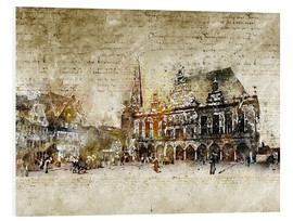 Foam board print  Bremen market marketplace modern and abstract - Michael artefacti