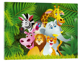 Acrylic print  My jungle animals - Kidz Collection