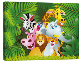 Canvas print  My jungle animals - Kidz Collection