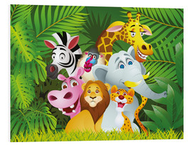 Foam board print  My jungle animals - Kidz Collection