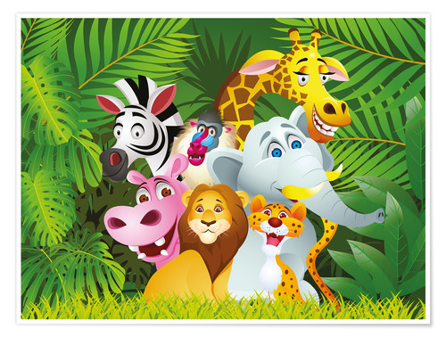 Premium poster My jungle animals
