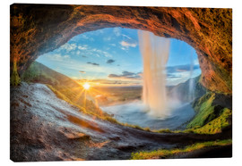 Canvas print  Seljalandsfosss waterfall in south of Iceland - Dieter Meyrl