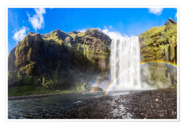 Premium poster Skogafoss waterfall in south of Iceland