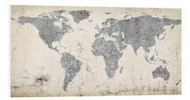 Foam board print  Vintage world map