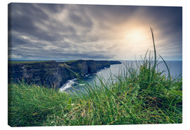 Canvas print  View over the cliffs of Moher, Ireland