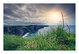 Premium poster View over the cliffs of Moher, Ireland