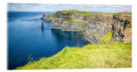 Acrylic print  The famous cliffs of Moher in Ireland