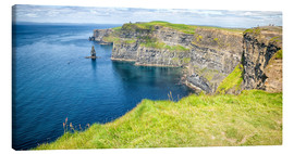 Canvas print  The famous Cliffs of Moher in Ireland