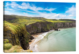Canvas print  Carrick-a-Rede, Coast of Northern Ireland