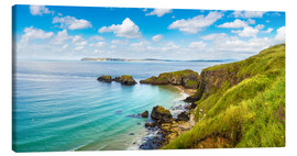 Canvas print  Coast of Northern Ireland on a beautiful summer day