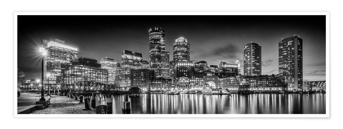 Premium poster BOSTON Fan Pier Park & Skyline