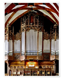Premium poster  Organ in St. Thomas Church, Leipzig music trail