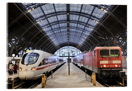 Acrylic print  ICE and InterRegio trains in the central station - imageBROKER