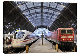Canvas print  ICE and InterRegio trains in the central station - imageBROKER