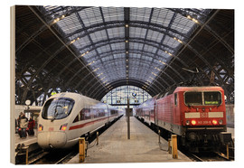 Wood  ICE and InterRegio in the central station - imageBROKER