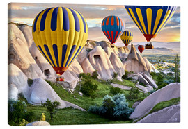 Canvas print  Balloons over the Tuff Rock of Turkey - imageBROKER