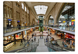 Canvas print  Promenades, central station, Leipzig - Schoening