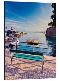 Alu-Dibond  Bench on the coast of Garda in Peschiera