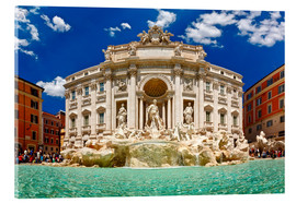 Acrylic print  Trevi Fountain or Fontana di Trevi in ??summer