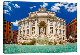 Canvas  Trevi Fountain or Fontana di Trevi in ??summer