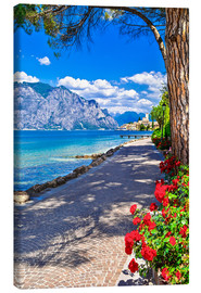 Canvas print  Beautiful Lago di Garda, Italy