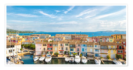 Premium poster Port Grimaud in the Gulf of St. Tropez