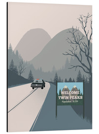 Aluminium print  Welcome to Twin Peaks - 2ToastDesign