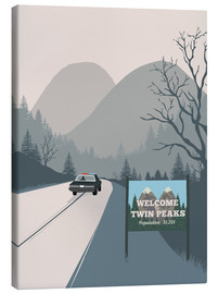 Canvas print  Alternative welcome to twin peaks art print - 2ToastDesign