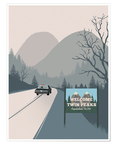 Poster Alternative welcome to twin peaks art print