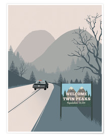 Premium poster  Welcome to Twin Peaks - 2ToastDesign