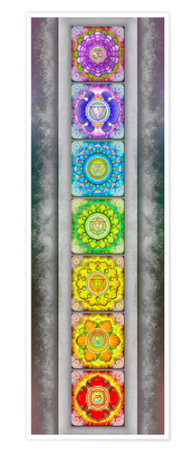 Premium poster The Seven Chakras Series III Artwork II II