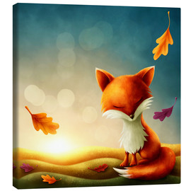 Canvas print  Little red fox - Elena Schweitzer