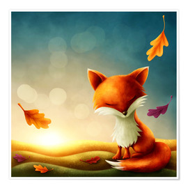 Premium poster  Little red fox - Elena Schweitzer
