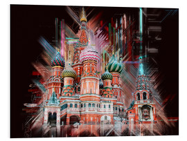 Foam board print  Moscow Basilica Cathedral - Peter Roder