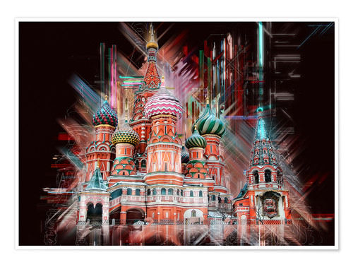 Premium poster Moscow Basilica Cathedral