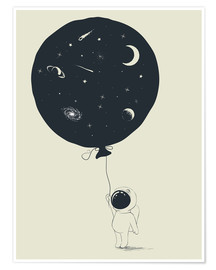 Premium poster Space balloon