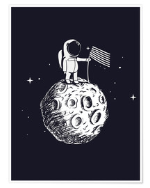 Premium poster The first man on the moon