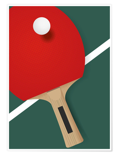 Premium poster Table tennis - minimalist