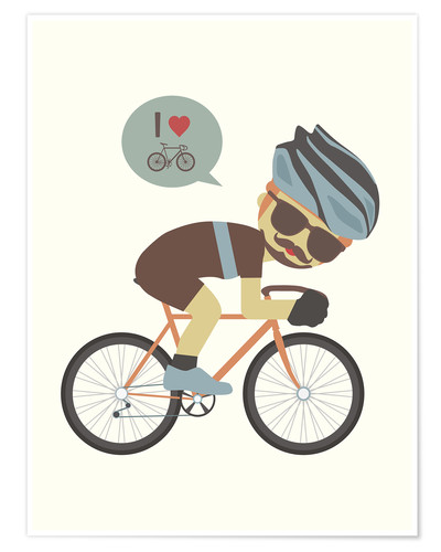 Premium poster I love cycling