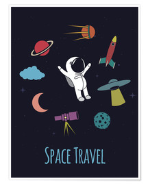 Premium poster Space Travel Kid