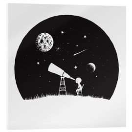 Acrylic print  Looking into the stars - Kidz Collection