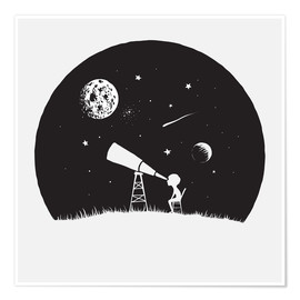 Premium poster  Looking into the stars - Kidz Collection