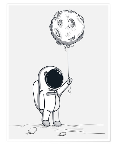 Premium poster Moon Balloon