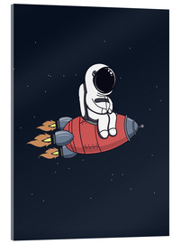 Acrylic print  Little astronaut with rocket - Kidz Collection